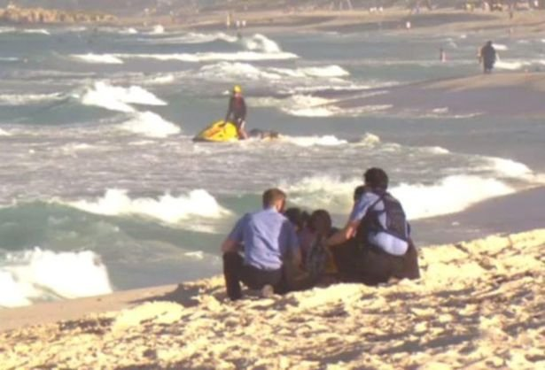Relatives and friends of the teenager at Scarborough Beach