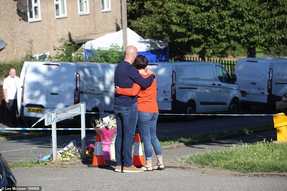 The devastated father of two children found dead alongside their best friend and mother at a semi-detached house