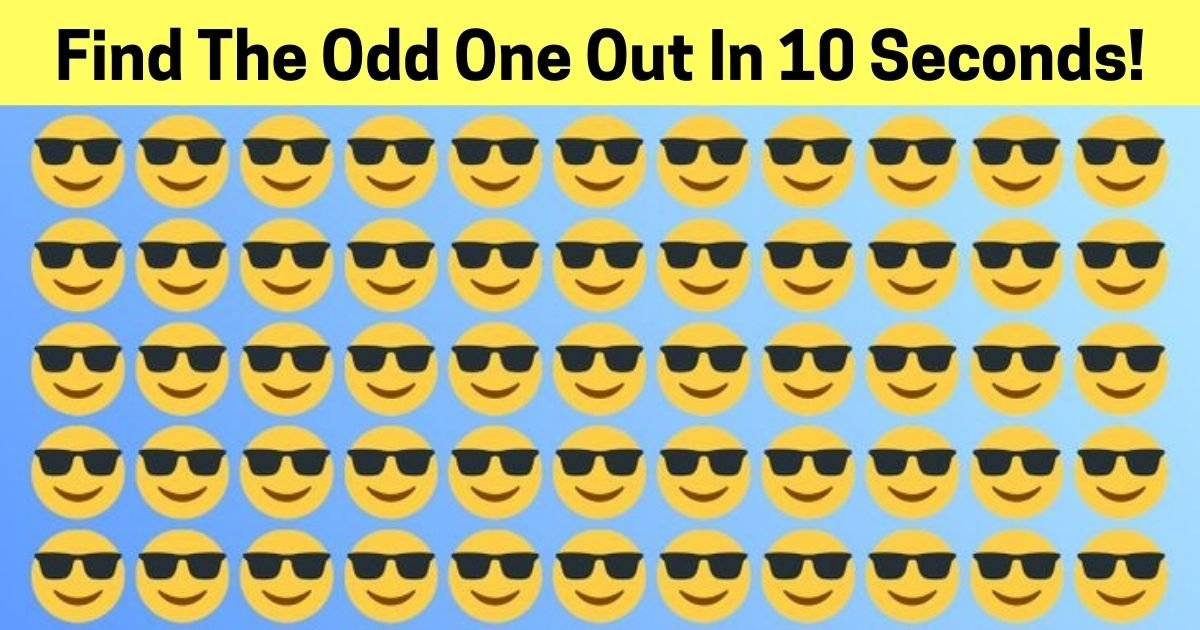add a heading 1.jpg?resize=1200,630 - 90% Of People Can't Spot The Odd One Out! But Can You Find The Different Emoji?