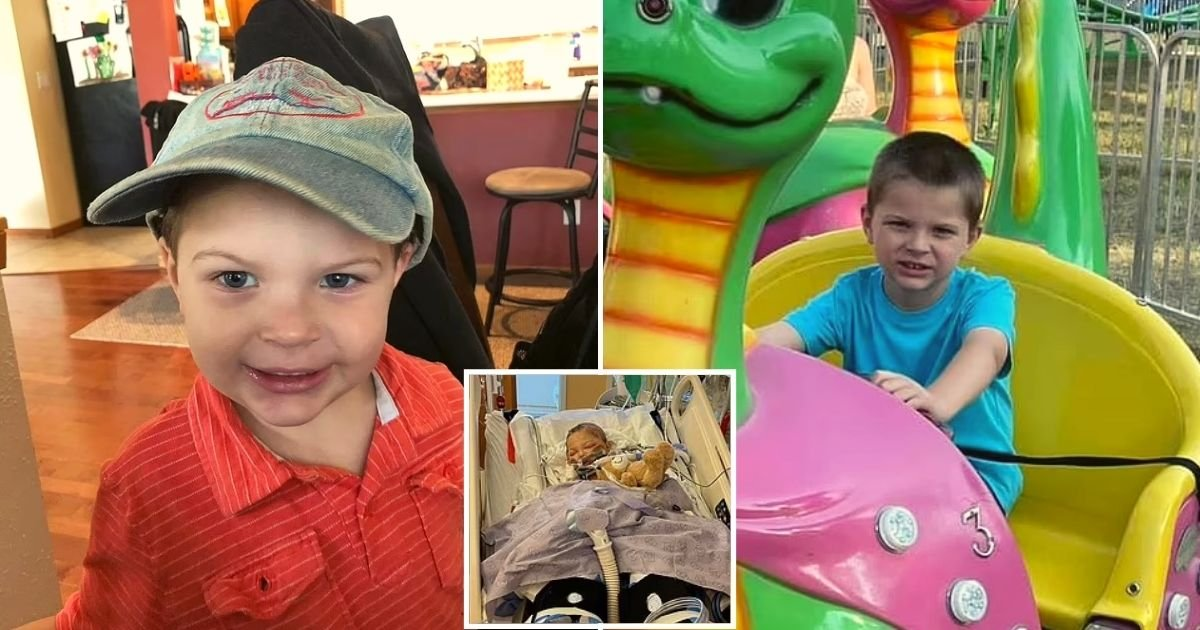 alex6.jpg?resize=412,232 - 6-Year-Old Boy Is Left Fighting For His Life After A 12-Inch Piece Of Steel From A Lawn Mower Struck Him In The Back Of His Head