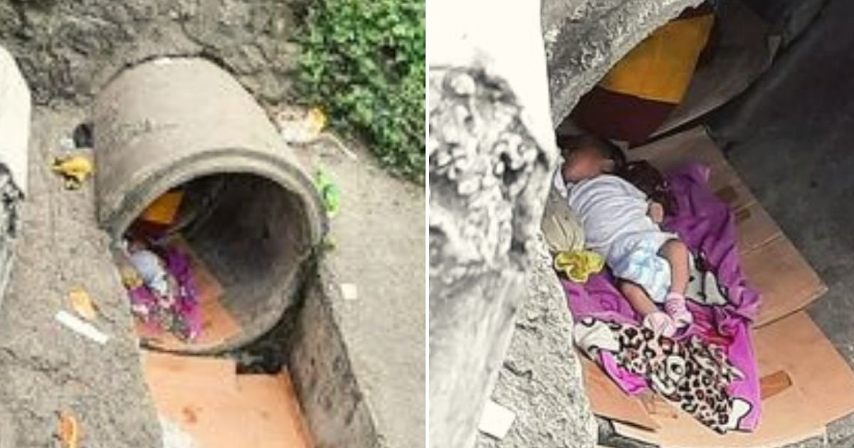 baby6.jpg?resize=1200,630 - Newborn Baby Girl Was Found Sleeping Alone On A Carton Inside A Drainage Pipe