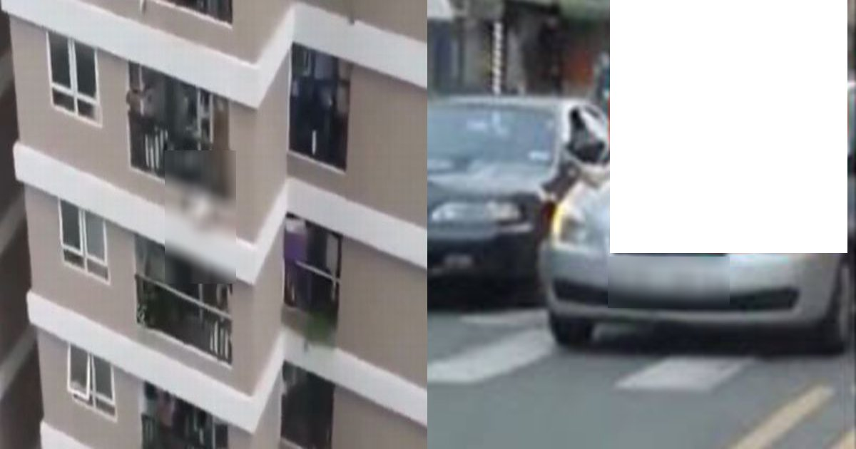 car 1.png?resize=1200,630 - 彼と×××をしようとして…滑ってベランダから落ちた女性を車がキャッチ! ○○で衝撃吸収した⁉