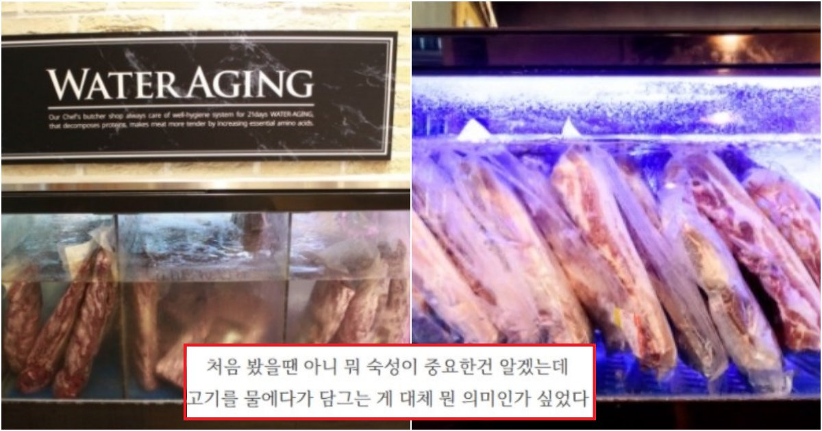collage 139.png?resize=1200,630 - 자주 마트에서 보여지는, '정육점'에서 고기를 물에 담궜다가 파는 이유(+사진)