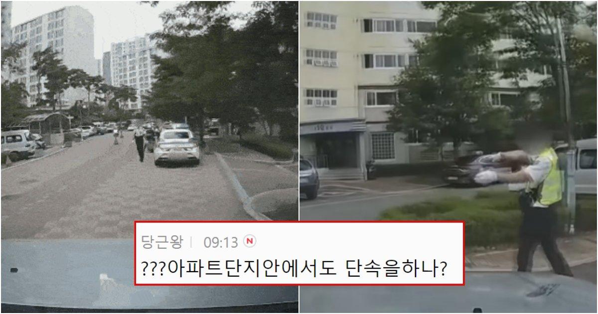collage 205.png?resize=1200,630 - 현재 경찰 해고하라는 말까지 나오고 있는 아파트 단지 내 단속하는 경찰 논란 (+영상)