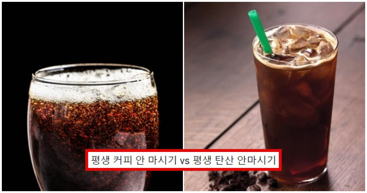 "collage 460.png?resize=1200,630 - ""여러분이라면?"" 평생 커피 안 마시기 vs 평생 탄산 안마시기"