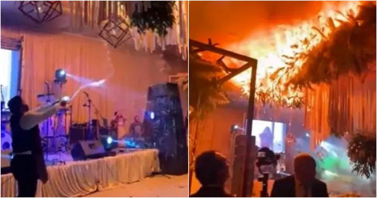 collage 500.png?resize=412,232 - 인생 중 한 번 뿐인 결혼식에 신부 위해서 특별한 이벤트 준비했다가 결혼식장 화재 일으킨 신랑의 '대폭망' 이벤트