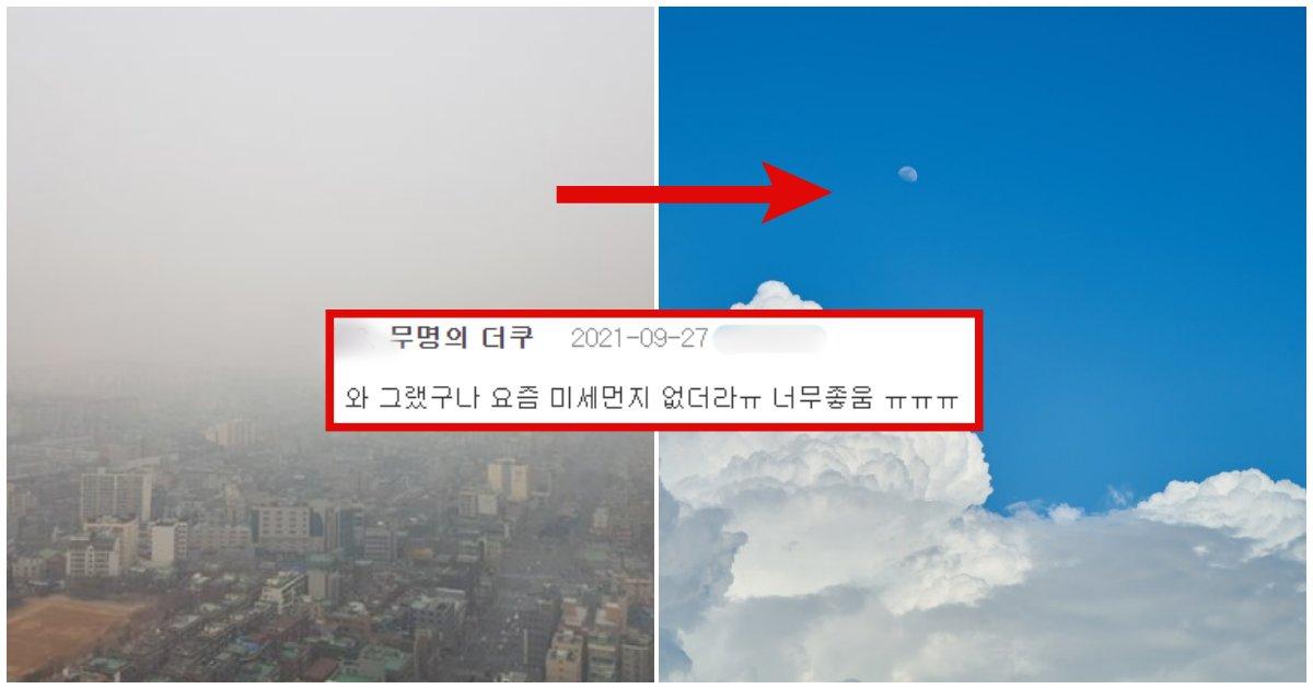 "collage 547.png?resize=412,232 - ""내년 3월까지는 하늘 푸르겠네?"" 요즘 미세먼지 없이 공기 맑아진 이유"