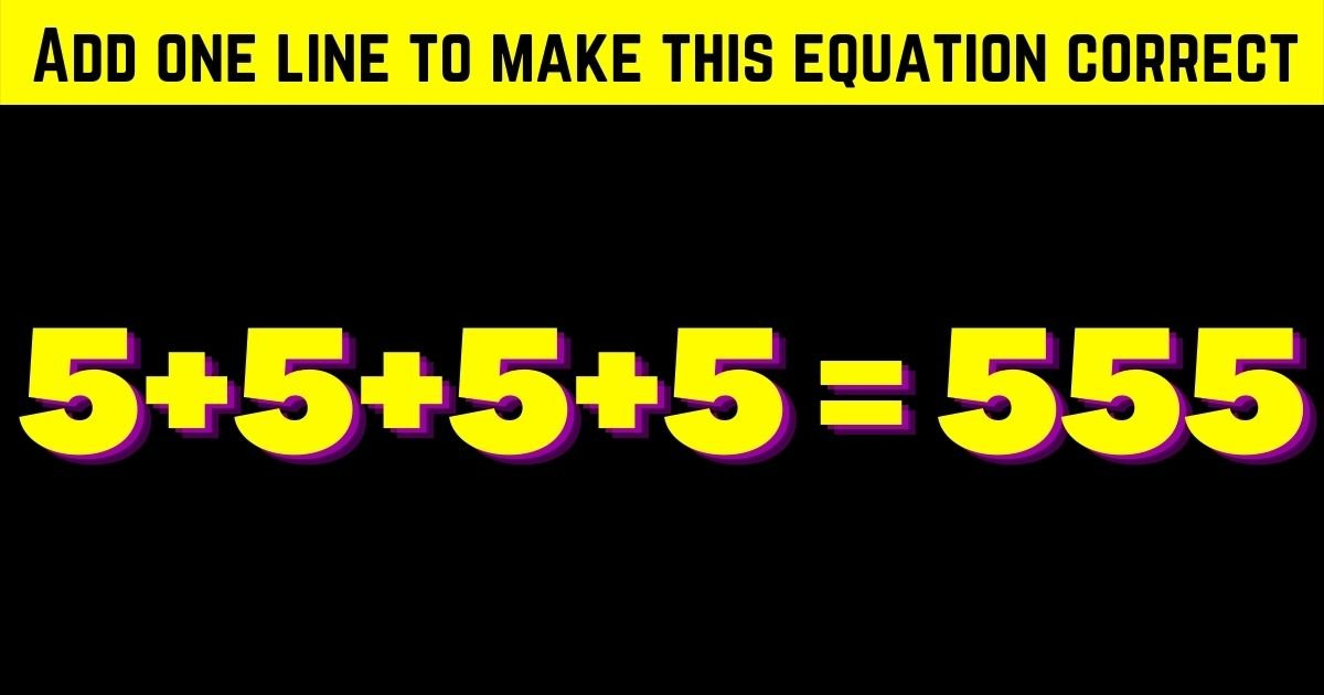 correct4.jpg?resize=1200,630 - Add One Line To Make This Equation Correct! Can You Solve This Simple Test?