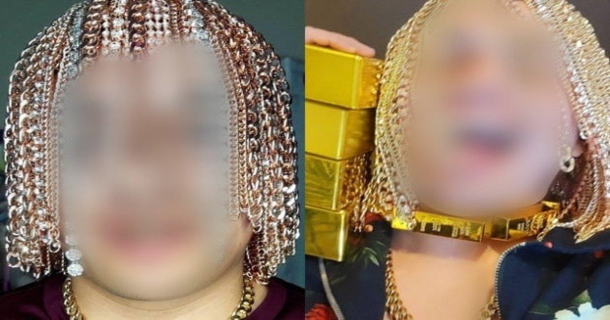 """eab888.jpg?resize=1200,630 - """"저게 다 금이라고?""""...머리카락 다 뽑고 두개골에 금 사슬 이식한 래퍼의 정체(+사진)"""