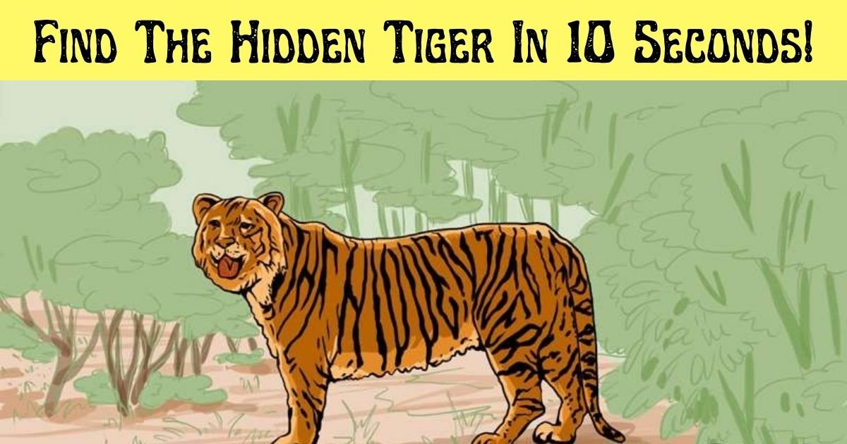 find the hidden tiger in 10 seconds.jpg?resize=1200,630 - 99% Of People Couldn't Find The Hidden Tiger In This Picture – But Can You Beat The Odds?