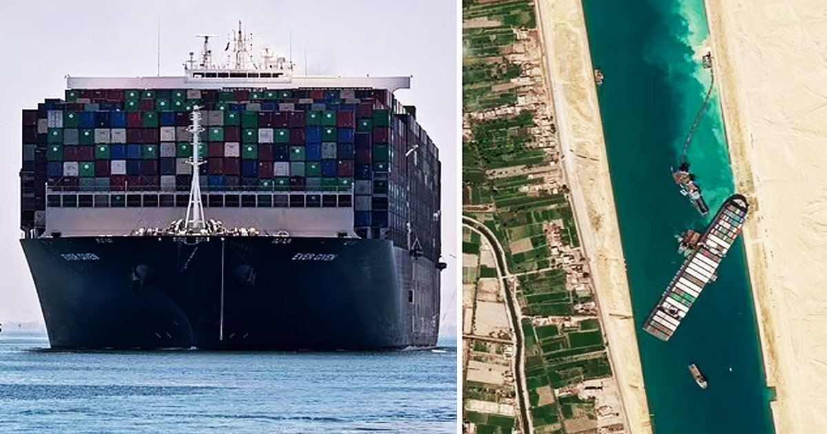 q3 70.jpg?resize=1200,630 - Suez Canal BLOCKED Again | Crucial Route Suspended As Stranded Ship Sparks Chaos For Others