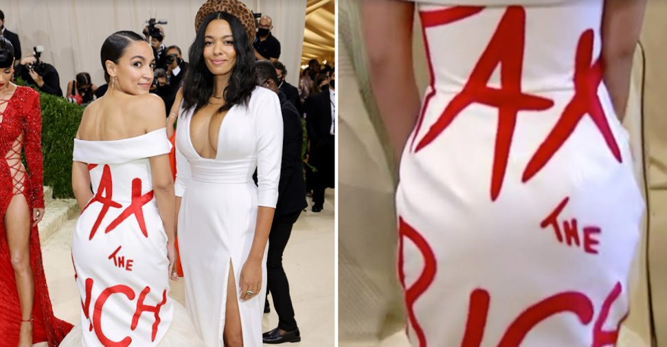 screenshot 2021 09 14 215616 2.png?resize=1200,630 - Alexandria Ocasio Cortez Wore A Borrowed Dress At The Met Gala 2021 But Faced Criticism For Her Hypocrisy