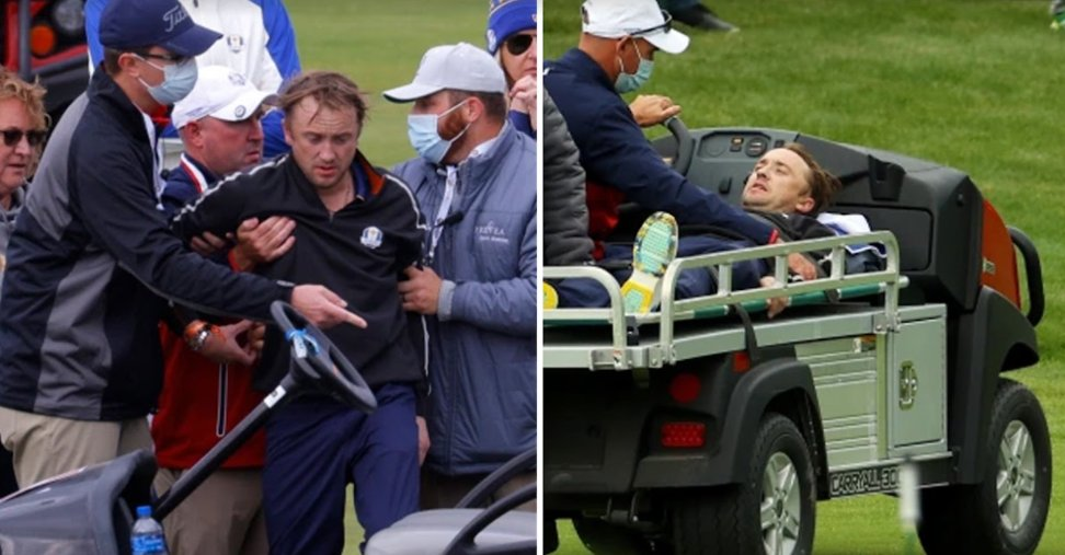 screenshot 2021 09 24 164303.png?resize=1200,630 - The Famous Draco Malfoy Of The Harry Potter Series, Tom Felton, Fell Ill And Was Stretchered Off The Ryder Cup Golf Course
