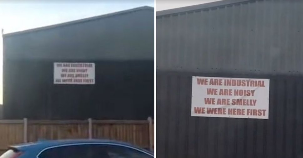 screenshot 2021 09 25 215838.png?resize=1200,630 - 'We Are Industrial, We Are Noisy, We Are Smelly, We Were Here First!' Amusing Warning Sign Of A Garage Located Near A Residential Area