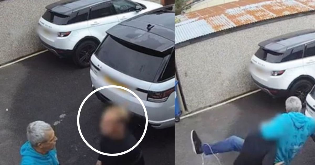 smalljoys 40.jpg?resize=1200,630 - Terrifying Moment When 64-Year-Old Grandpa Was Body Slammed By A Man After An Argument About His Neighbor's Car Was Caught On Security Camera