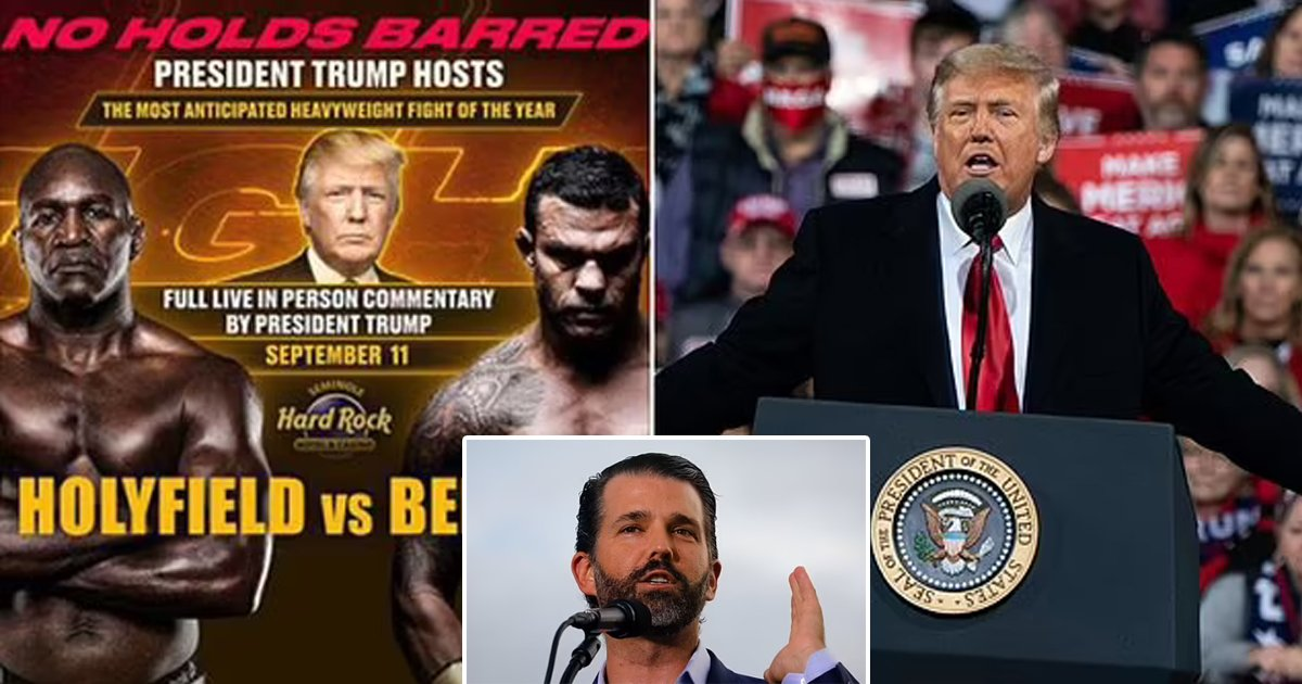 t3 99.jpg?resize=1200,630 - Donald Trump All Set To Host Florida Boxing Match On September 11th Alongside His Son Don Jr.