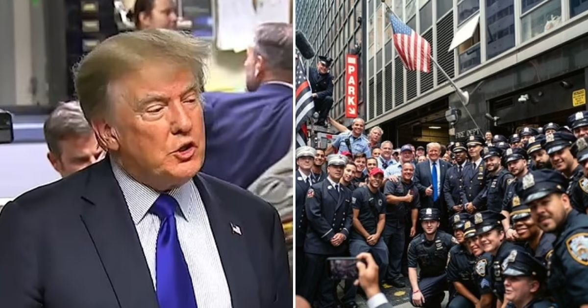 trump6.jpg?resize=1200,630 - Donald Trump Surprised NYPD And FDNY Officers On The 20th Anniversary Of 9/11