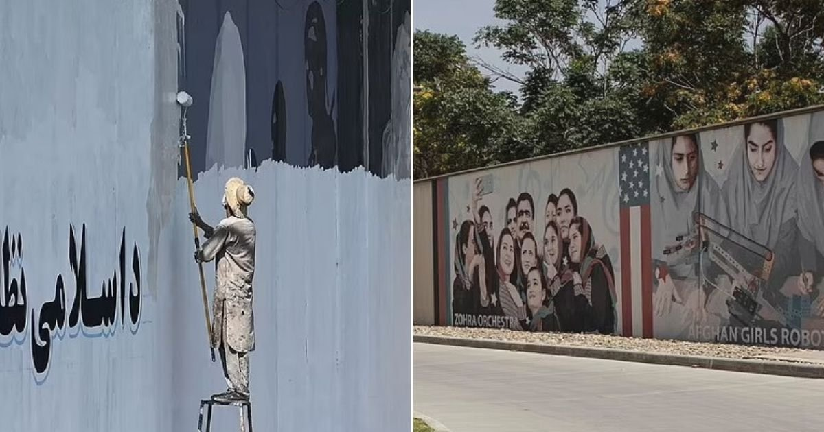 untitled design 14.jpg?resize=1200,630 - Taliban Destroy The 'Soul Of Kabul' As They Paint Victory Slogans Over Murals That Adorned The Capital
