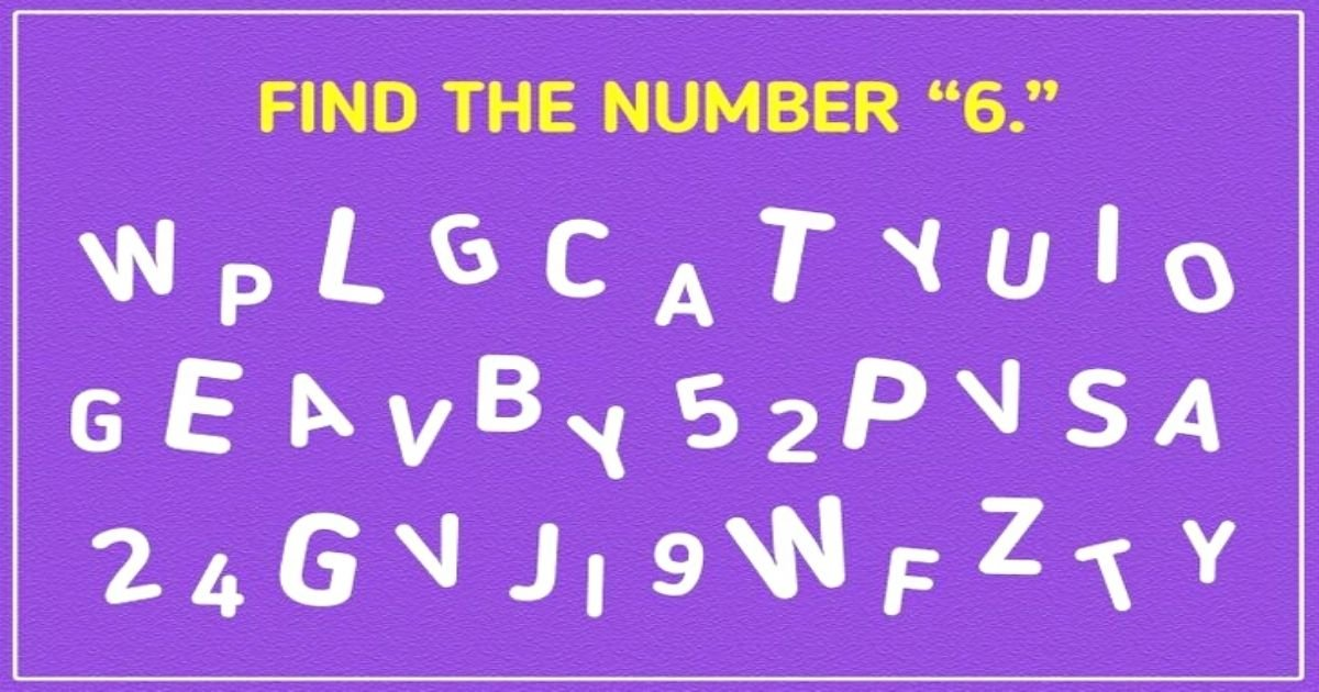 untitled design 15.jpg?resize=1200,630 - Brain Test: 9 Out Of 10 People Fail To Solve This Puzzle! But Can You Spot Number '6' In Just 10 Seconds?