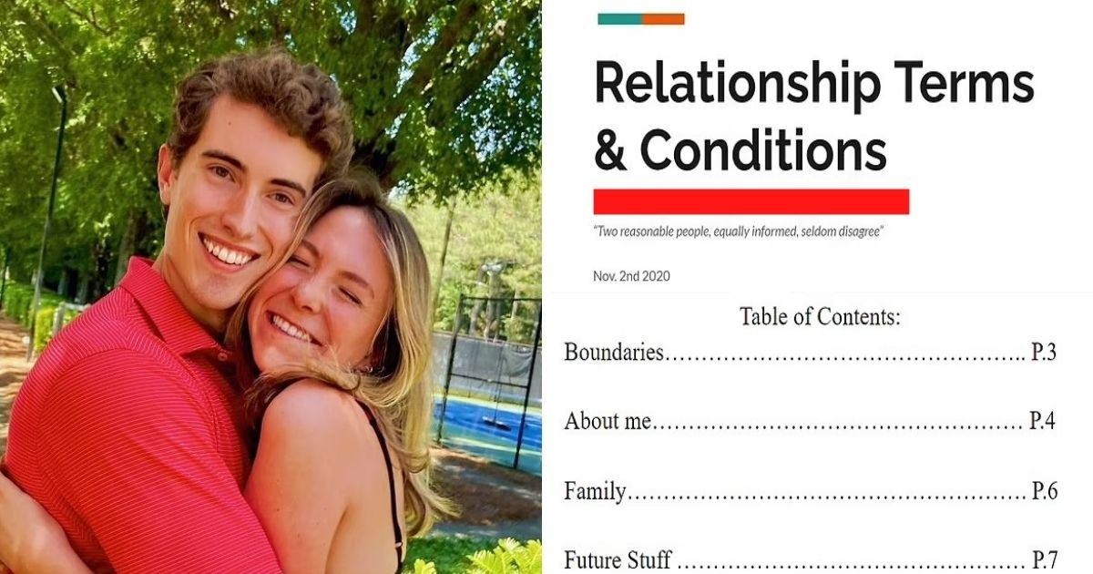 untitled design 20.jpg?resize=1200,630 - Woman Writes A 17-Page Contract For Her Boyfriend As She Details Terms & Conditions Of Their Relationship