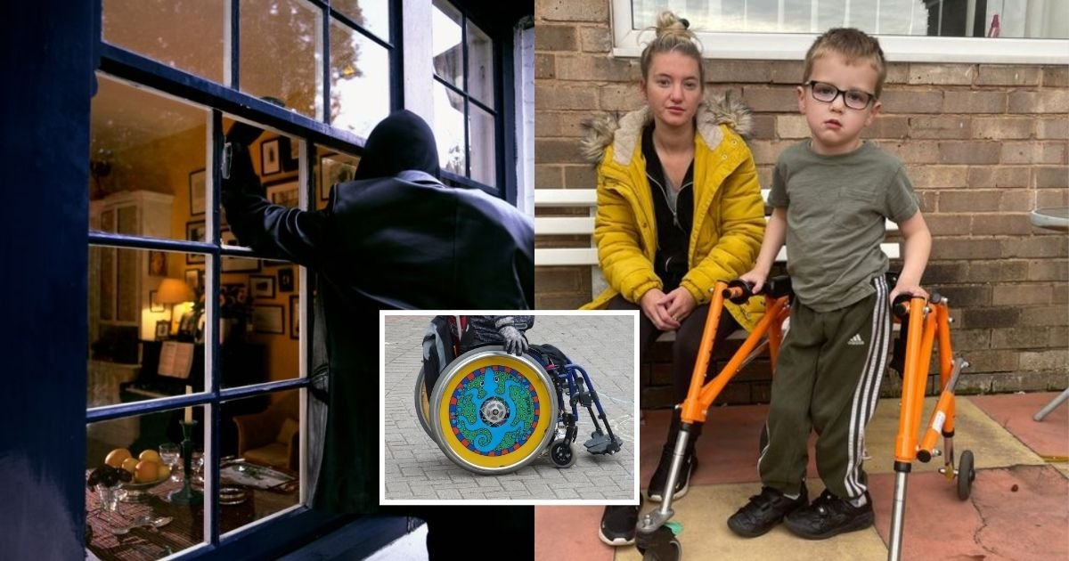 1 41.jpg?resize=412,232 - 5-Year-Old Disabled Boy Was Left Heartbroken After Thieves Stole His Wheelchair And Sold It Online