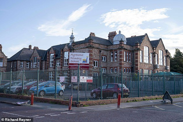 Ayresome Primary School in Middlesbrough where a row which has broken out after the school asked parents to dress appropriately (Pictured)