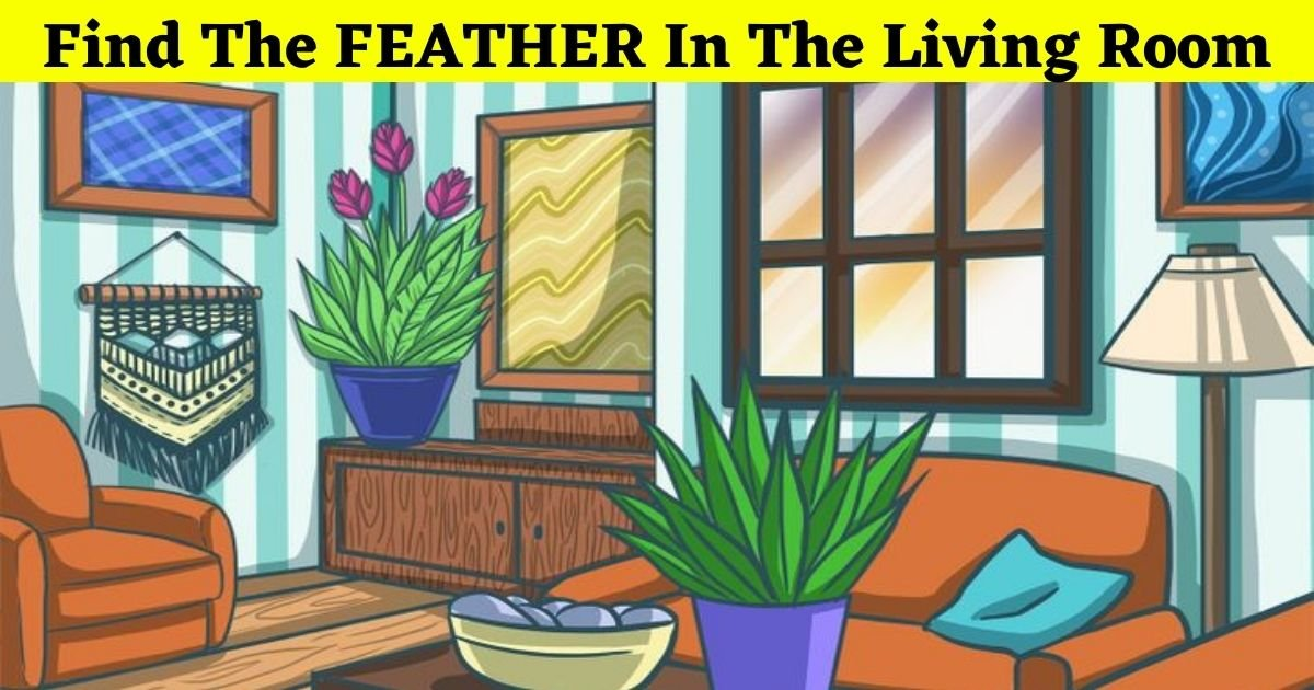 feather4.jpg?resize=412,232 - 90% Of Viewers Can't Find The FEATHER In This Picture Of A Living Room! But Can You Spot It?