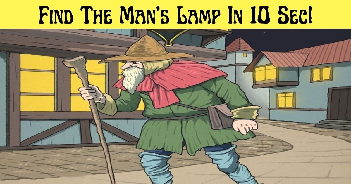 find the mans lamp in 10 sec.jpg?resize=1200,630 - 95% Of People Can't Spot The Old Man's Missing Lamp - But Can You Find It?