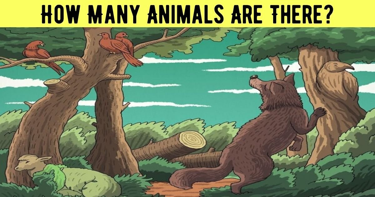 how many animals are there.jpg?resize=1200,630 - How Many Animals Do You See In This Picture? There Are More Than Meets The Eye!