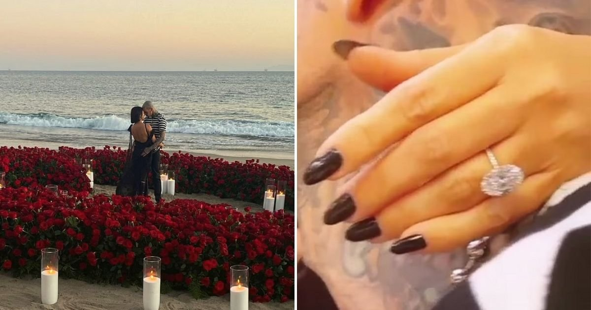 proposal7.jpg?resize=412,232 - Kourtney Kardashian Finally Says YES To 'Forever' With The Blink-182 Drummer Who Popped The Question At Beachside Hotel