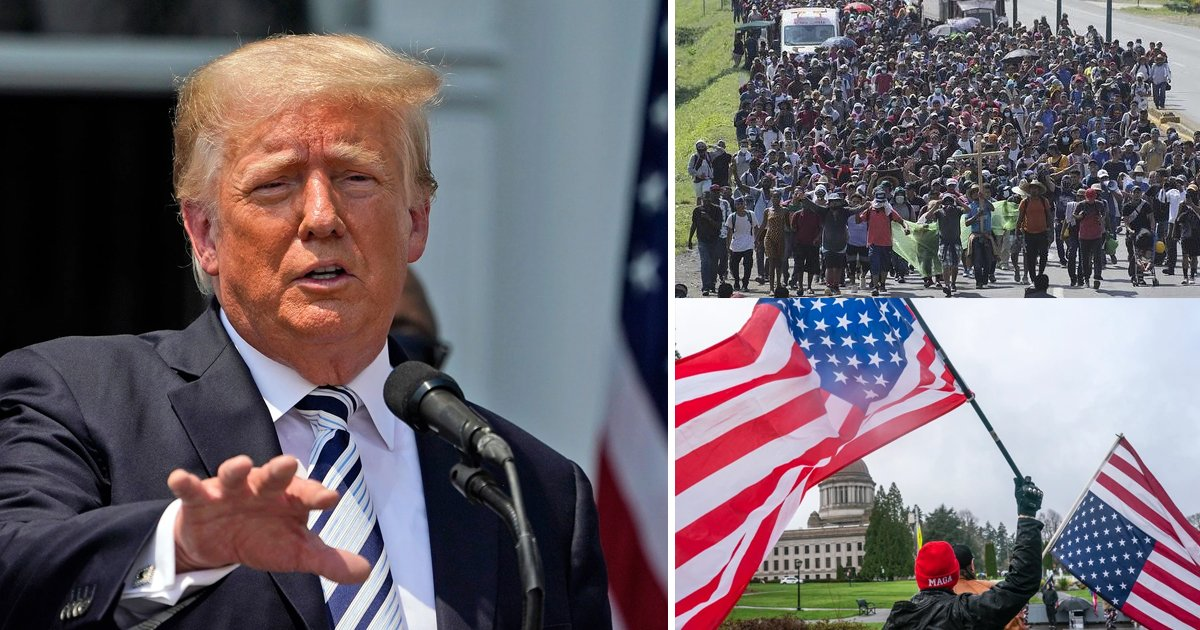 """q1 7.jpg?resize=412,275 - """"Finish The Wall!""""- Trump WARNS How The US Is Being 'Poisoned' By A Surge Of Immigrants Entering The Southern Border"""