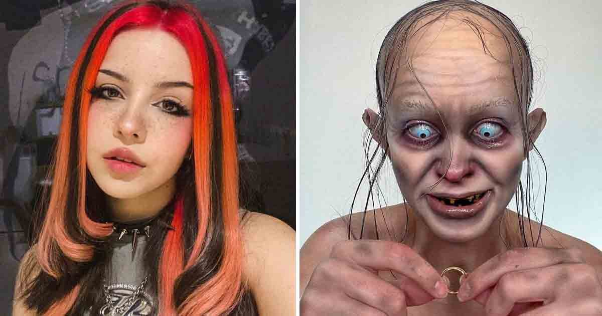 q5 1 2.jpg?resize=412,275 - Epic Halloween Makeover Frightens Followers After Artist Transforms Herself Into Gollum From 'Lord Of The Rings'