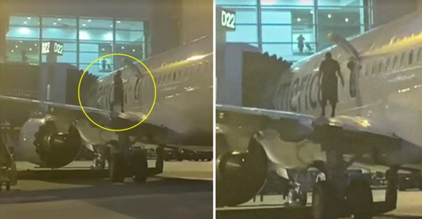 screenshot 2021 10 01 213748.png?resize=412,275 - Unexpected Action Of A Passenger Alerted The Authorities! A Passenger Found Walking On The Wing Of A Plane
