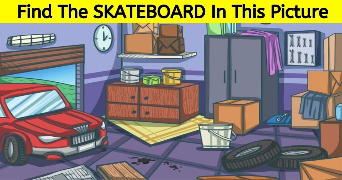 skateboard4.jpg?resize=412,232 - 90% Of Viewers Can't Spot The SKATEBOARD In This Picture Of A Garage! But Can You Find It?