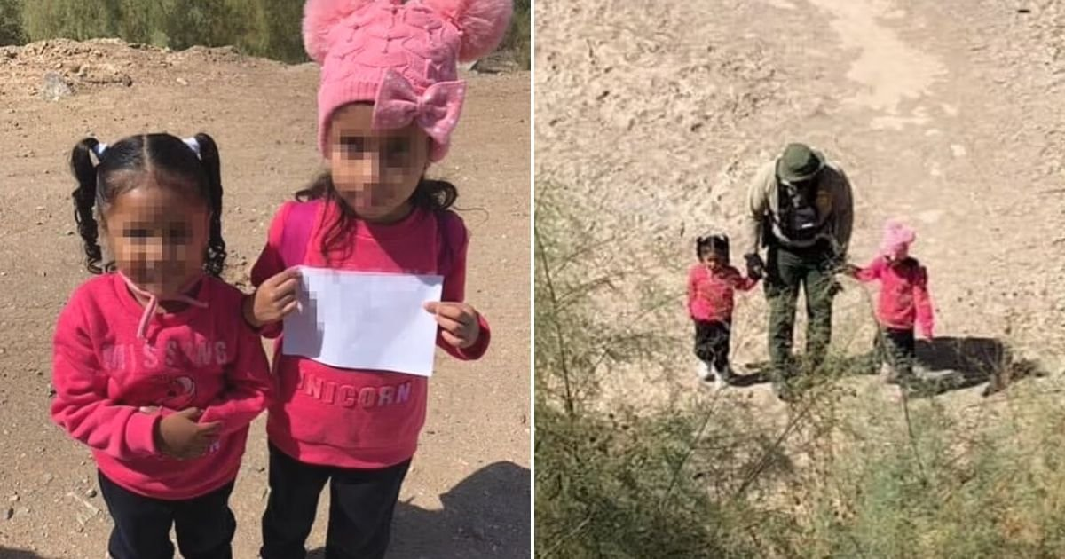 untitled design 2.jpg?resize=412,232 - Two Little Sisters Were Found Traveling All Alone While Carrying A Heartbreaking Sign Near The Border With Mexico