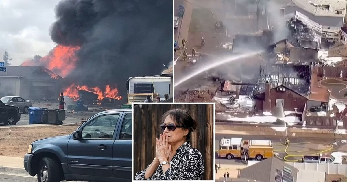 untitled design 42.jpg?resize=1200,630 - At Least Two People Dead After Plane Crashes Into Homes Near A High School And Sets Two Houses On Fire