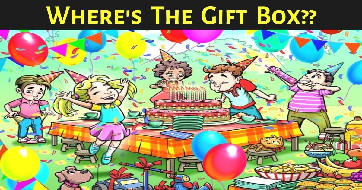 wheres the gift box.jpg?resize=412,232 - 90% Of People Couldn't Find The Gift Box In This Joyful Scene - But Can You Beat The Odds?
