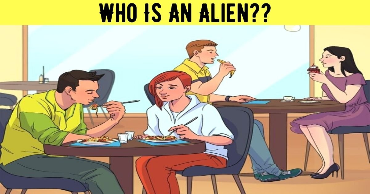 who is an alien.jpg?resize=412,232 - How Fast Can You Spot The Alien In This Picture? 90% Of People Couldn't Figure Out The Correct Answer!